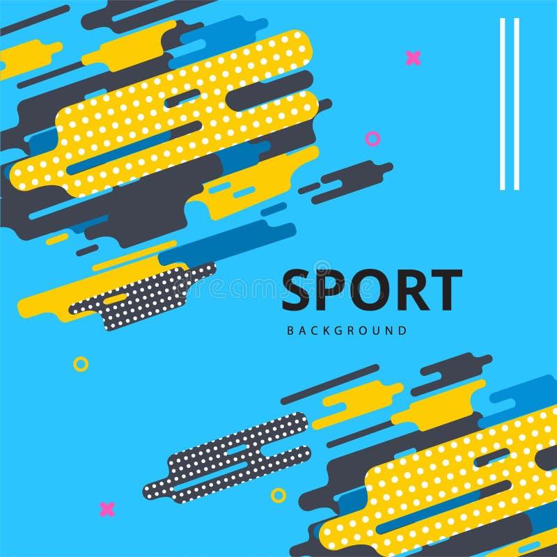 Molde abstrato do projeto da disposição do vetor para o evento desportivo ilustração stock