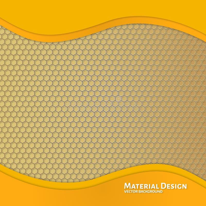 Molde abstrato do projeto do material de fundo ilustração royalty free