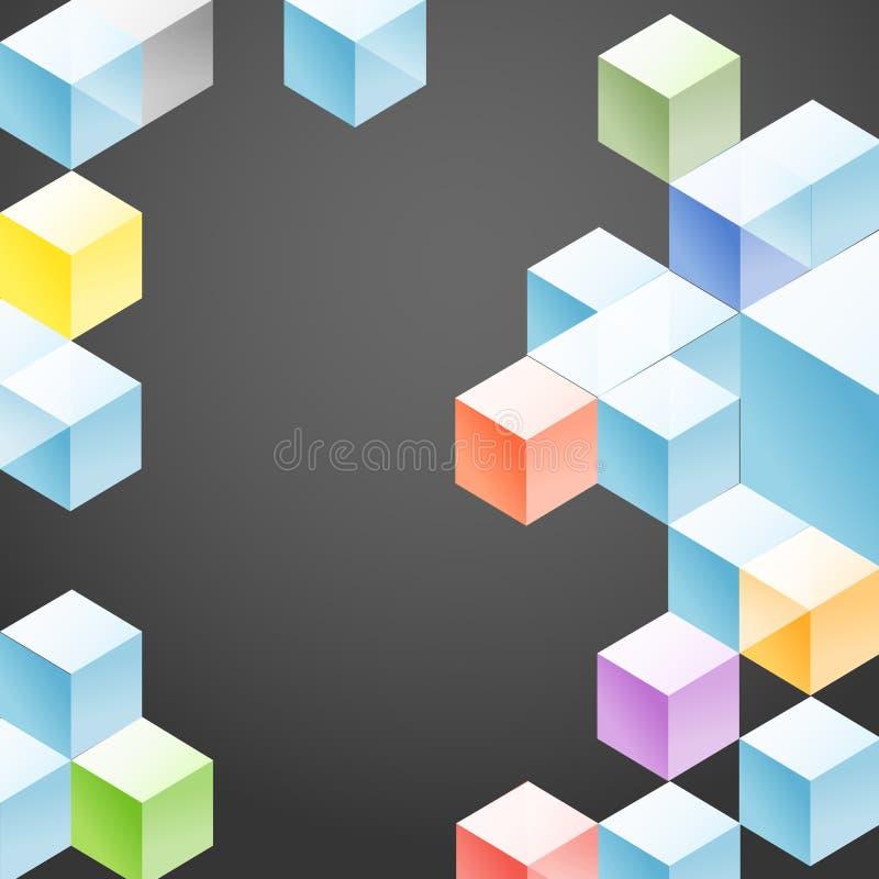 Molde abstrato do projeto geométrico ilustração royalty free