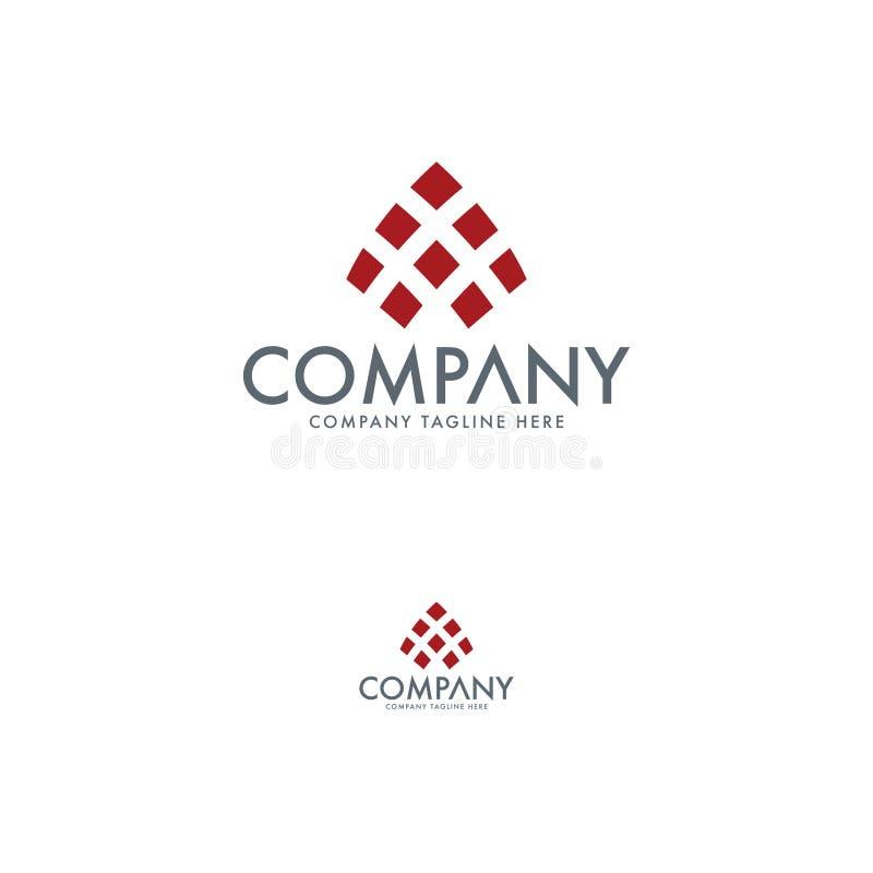 Molde abstrato do projeto do logotipo Elemento do logotipo da empresa ilustração stock