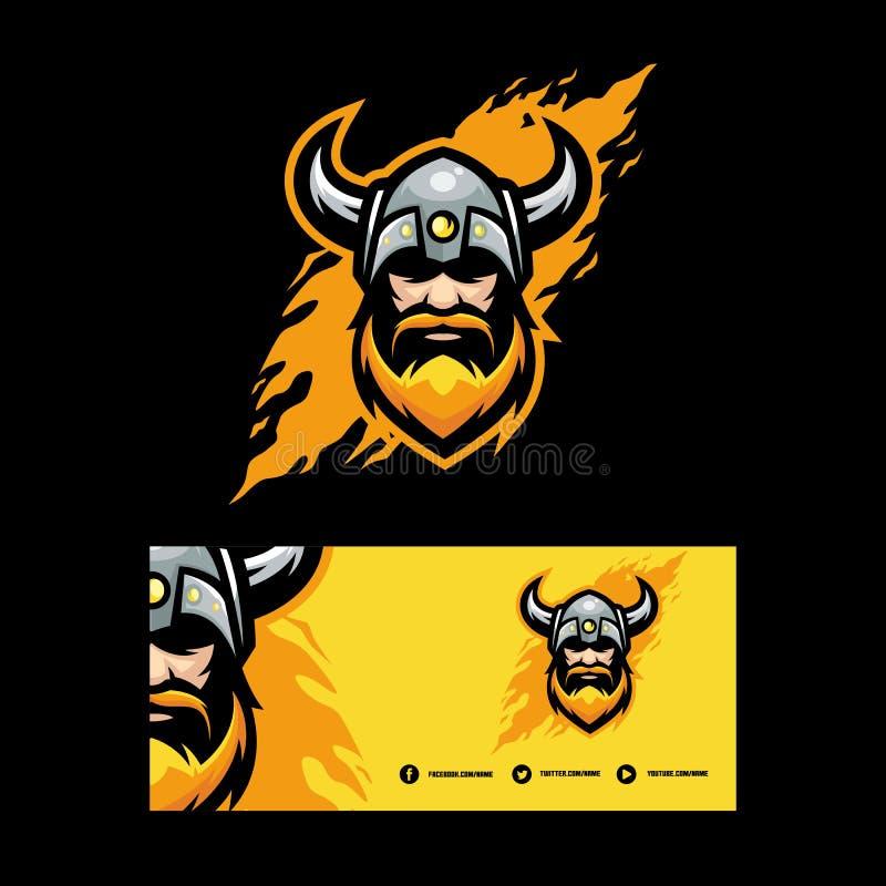 Molde abstrato do projeto do vetor da ilustração de Viking ilustração royalty free
