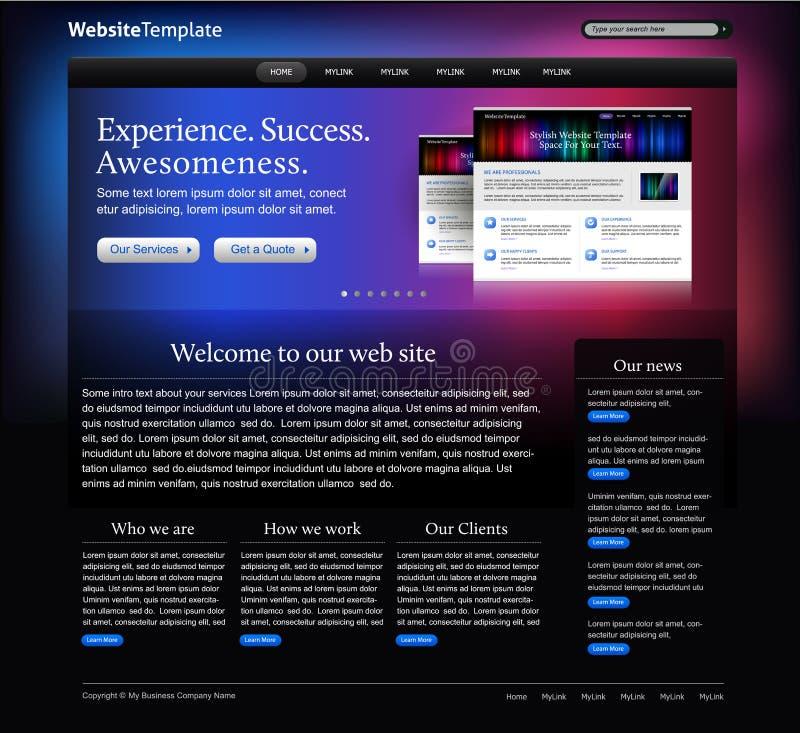 Molde abstrato do Web site ilustração do vetor