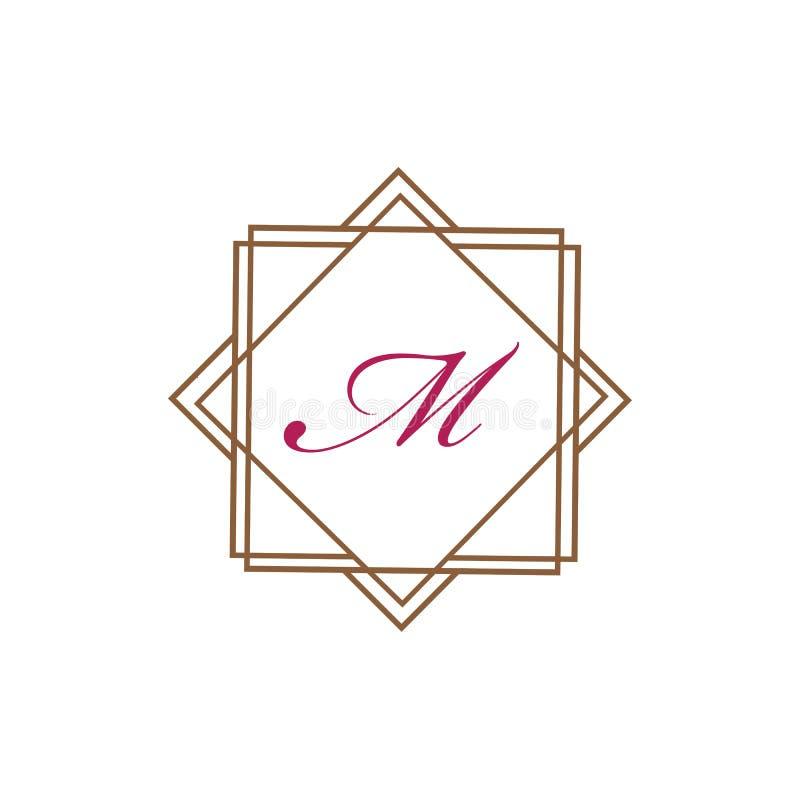 Molde abstrato incorporado do projeto do logotipo do vetor da unidade da letra M Business ilustração stock