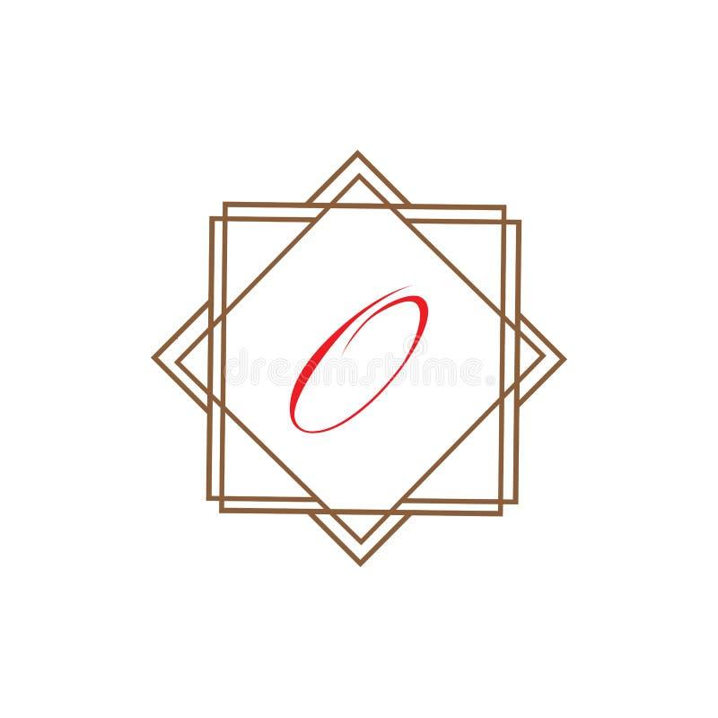 Molde abstrato incorporado do projeto do logotipo do vetor da unidade do negócio da letra O ilustração stock