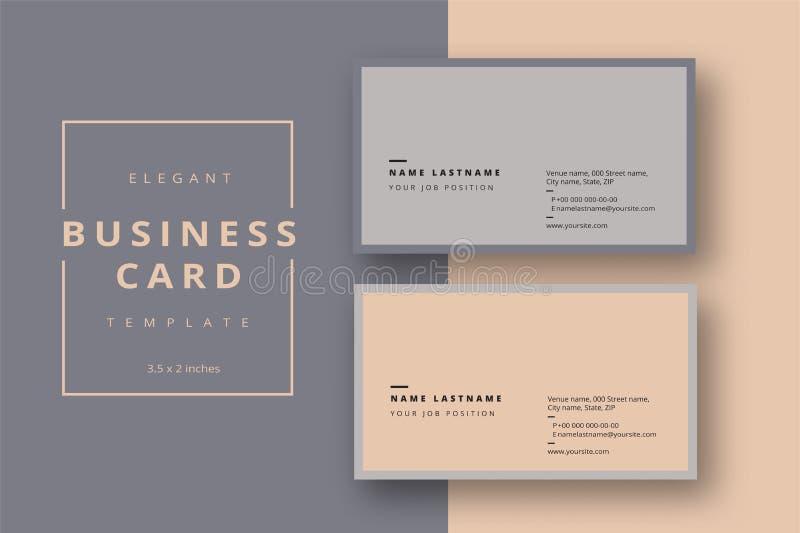 Molde abstrato mínimo na moda do cartão Corporativo moderno ilustração stock