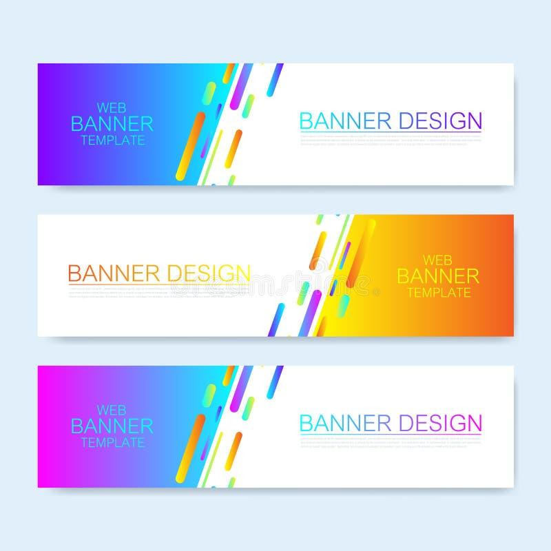 Molde abstrato moderno da bandeira da Web do vetor Elementos coloridos do design web Bandeira geométrica abstrata da Web do fundo ilustração do vetor
