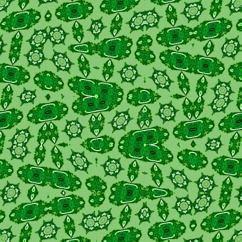 Molde abstrato no contexto verde Teste padrão de estrela geométrico moderno Deixe a textura Conceito de sistema Células estaminai fotos de stock royalty free