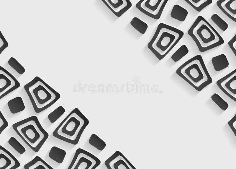 Molde abstrato preto e branco do fundo ilustração stock
