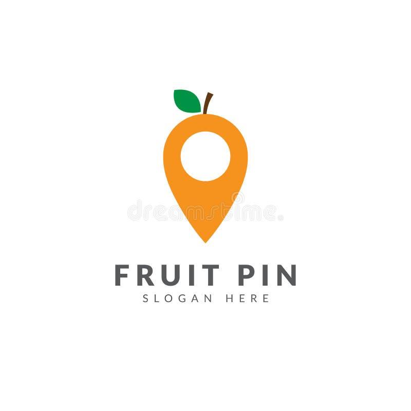 Molde alaranjado do logotipo do pino ilustração royalty free