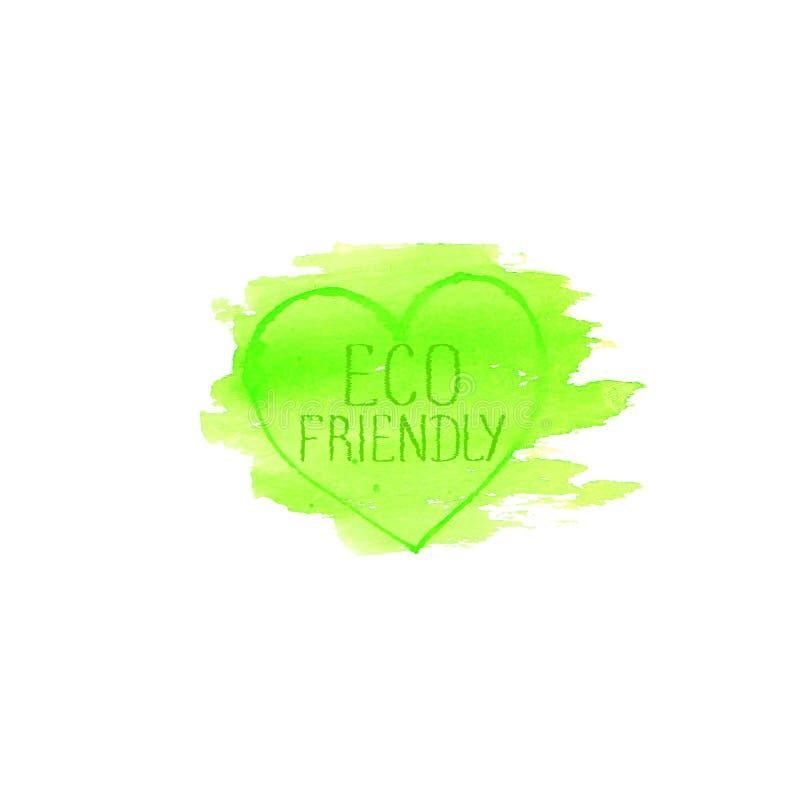 Molde amigável do projeto do logotipo do conceito de Eco ilustração royalty free
