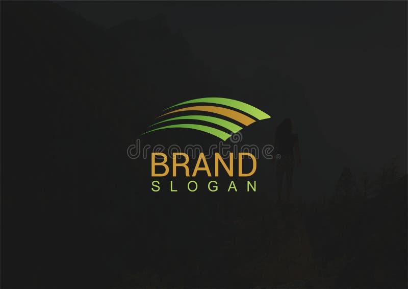 Molde atrativo do logotipo da asa ilustração royalty free