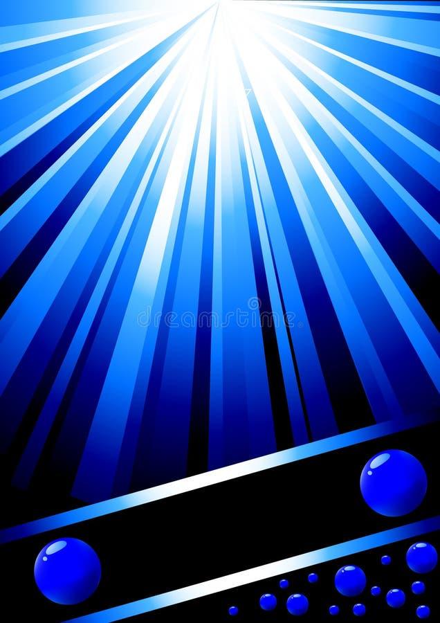 Molde azul bonito do projeto ilustração royalty free