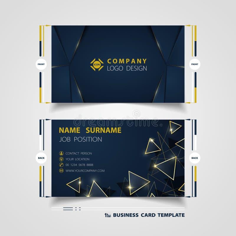 Molde azul do cartão de nome da empresa da cor do inclinação luxuoso abstrato Vetor eps10 da ilustra??o ilustração stock