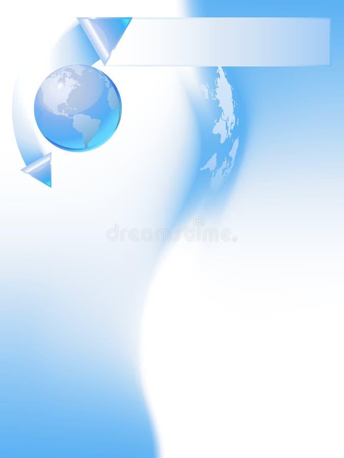 Molde azul do globo ilustração do vetor