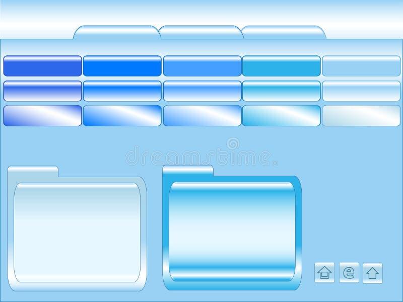 Molde azul do Web site ilustração royalty free