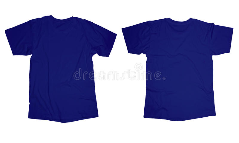 Molde azul enrugado da camisa foto de stock royalty free