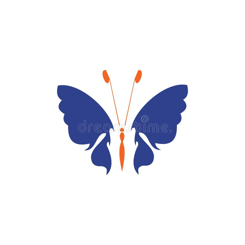Molde bonito abstrato do vetor do projeto do logotipo do ícone da borboleta ilustração royalty free