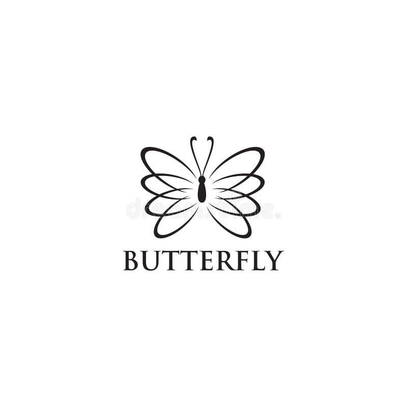 Molde bonito abstrato do vetor do projeto do logotipo do ícone da borboleta ilustração do vetor