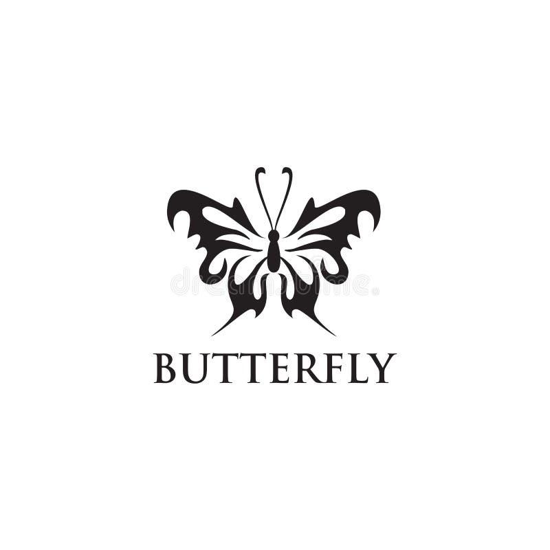 Molde bonito abstrato do vetor do projeto do logotipo do ícone da borboleta ilustração stock