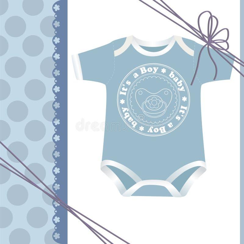 Molde bonito para o cartão do bebê ilustração do vetor