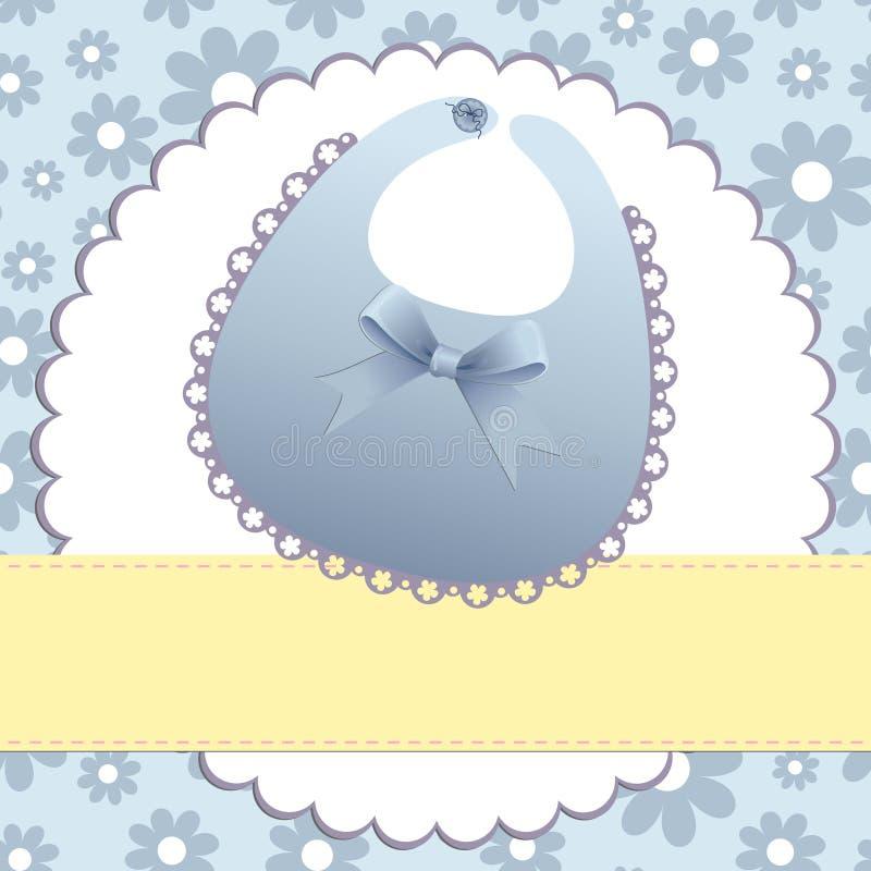 Molde bonito para o cartão do bebê ilustração royalty free