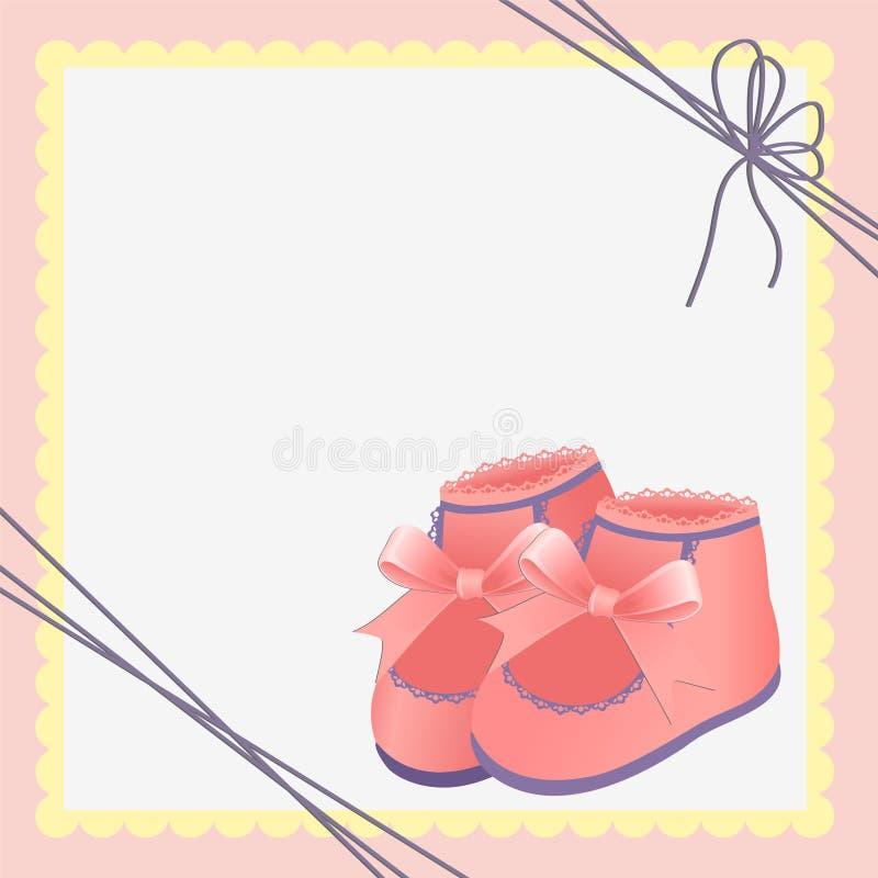 Molde bonito para o cartão do bebê ilustração stock