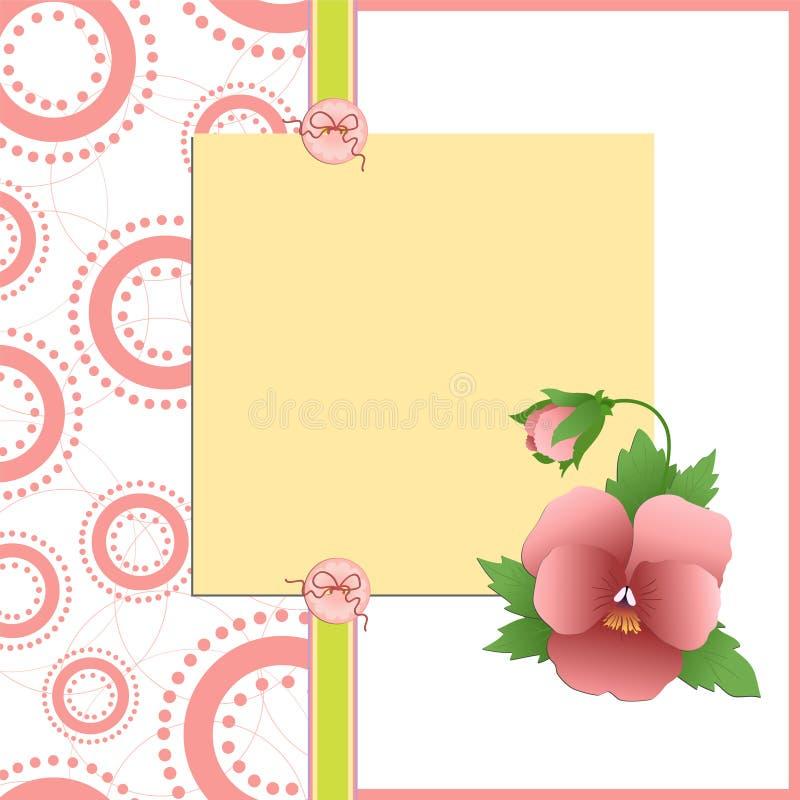 Molde bonito para o cartão do dia de matriz ilustração do vetor