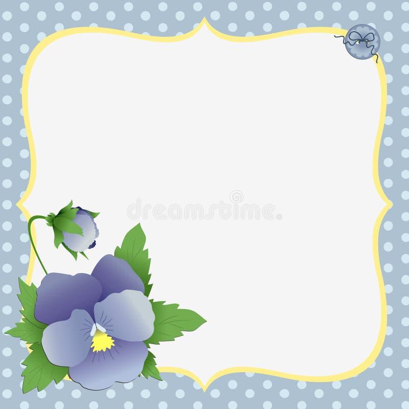 Molde bonito para o cartão do dia de matriz ilustração royalty free
