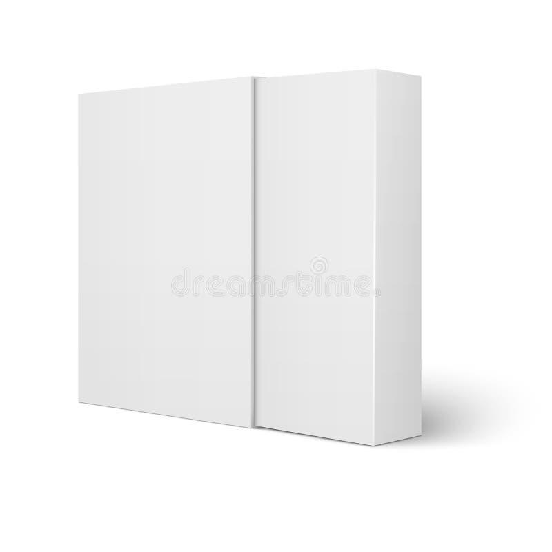 Molde branco da caixa de cartão da luva ilustração do vetor