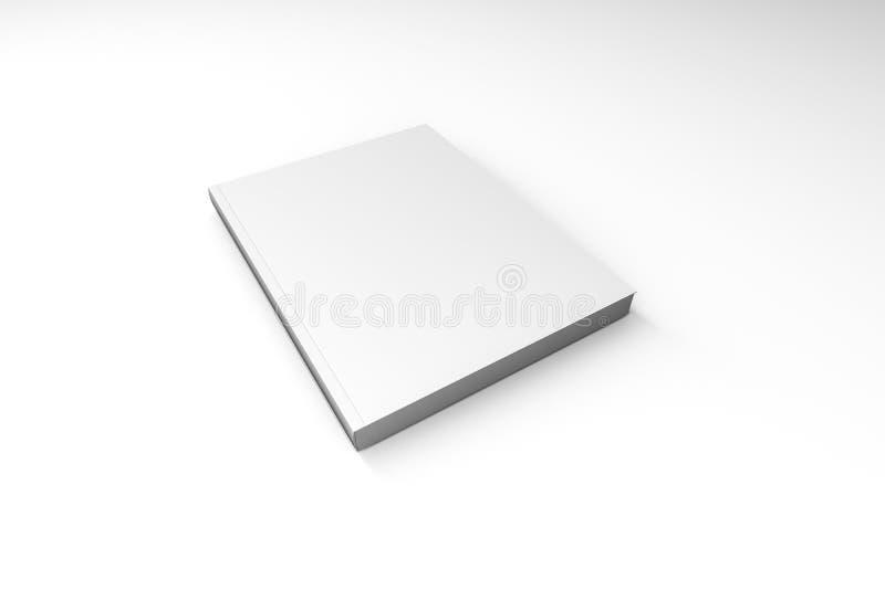 Molde branco do livro da tampa no branco fotos de stock