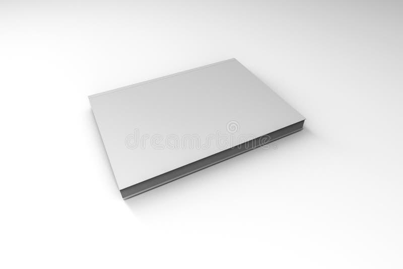 Molde branco do livro da tampa no branco fotos de stock royalty free