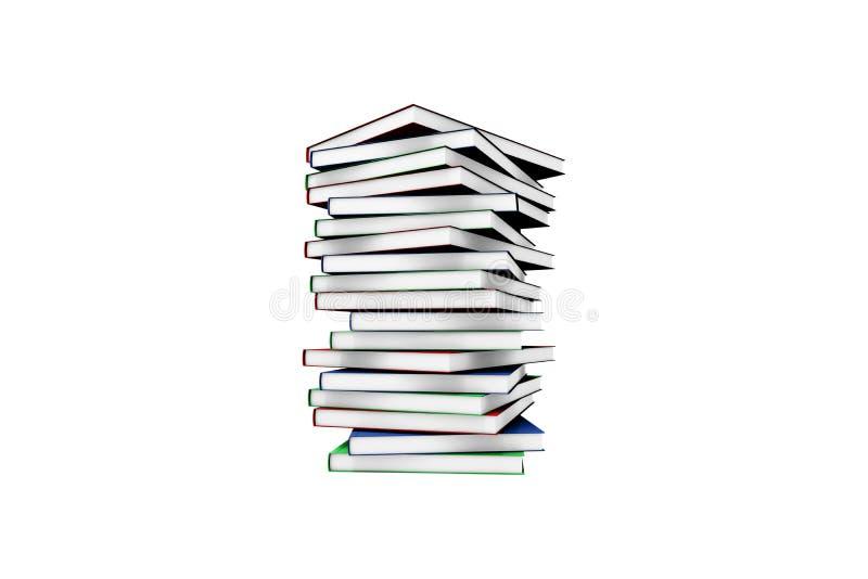 Molde branco do livro da tampa no branco imagem de stock