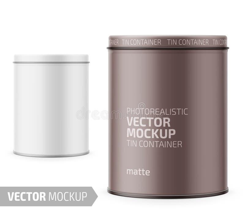 Molde branco do potenciômetro do iogurte com projeto de amostra ilustração do vetor