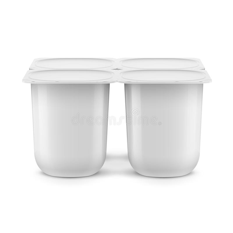 Molde branco do potenciômetro do iogurte ilustração royalty free