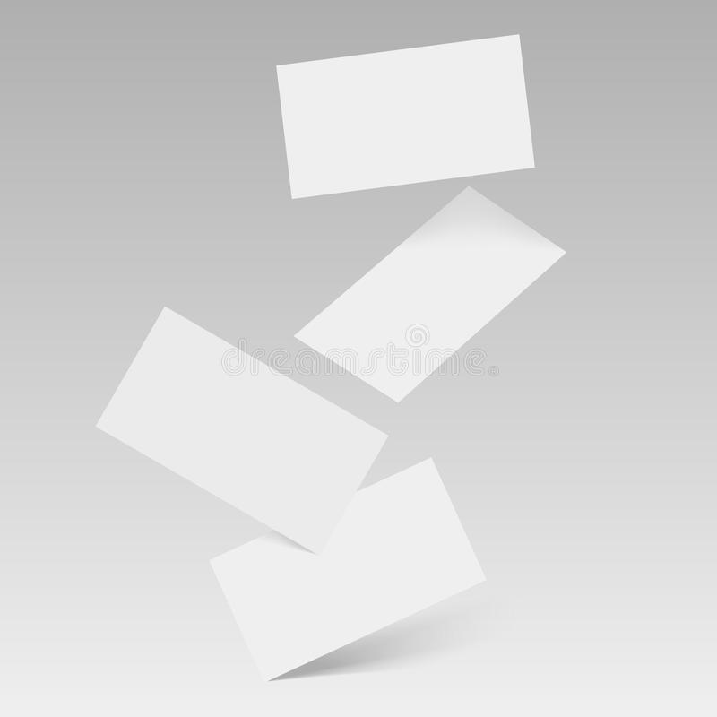 Molde branco vazio de queda dos cartões Vetor ilustração royalty free