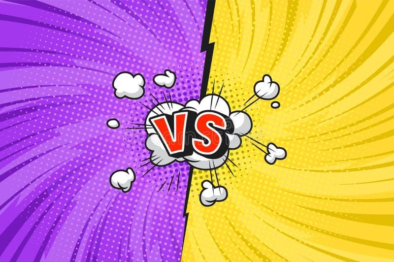 Molde brilhante do duelo cômico ilustração stock