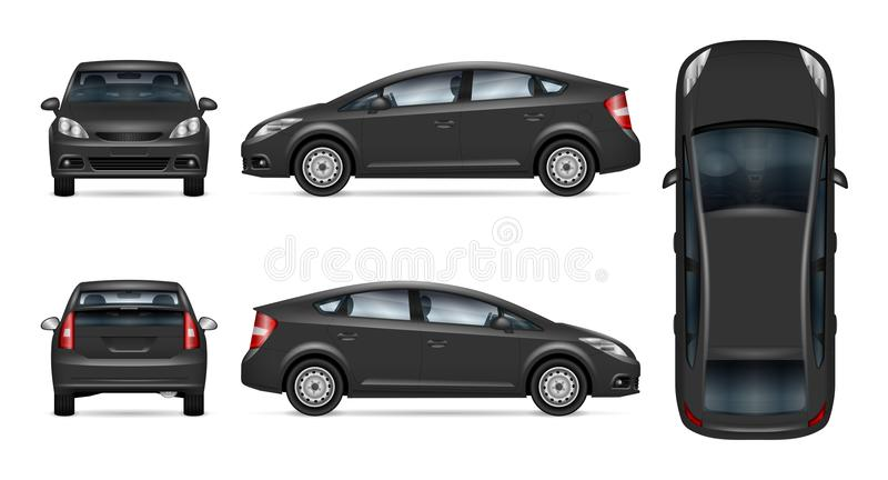 Molde cinzento do vetor do carro ilustração stock