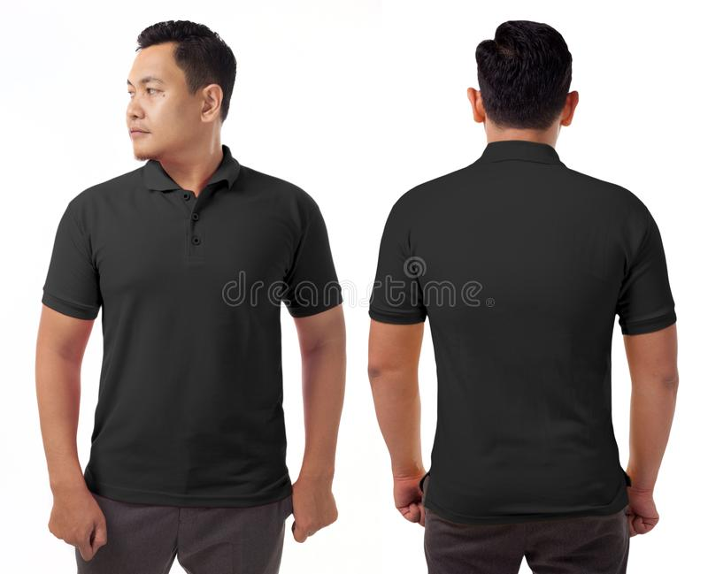 Molde colocado um colar preto do projeto da camisa fotografia de stock