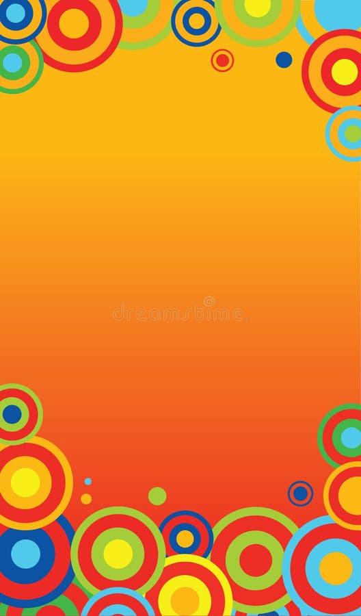 Molde colorido ilustração stock