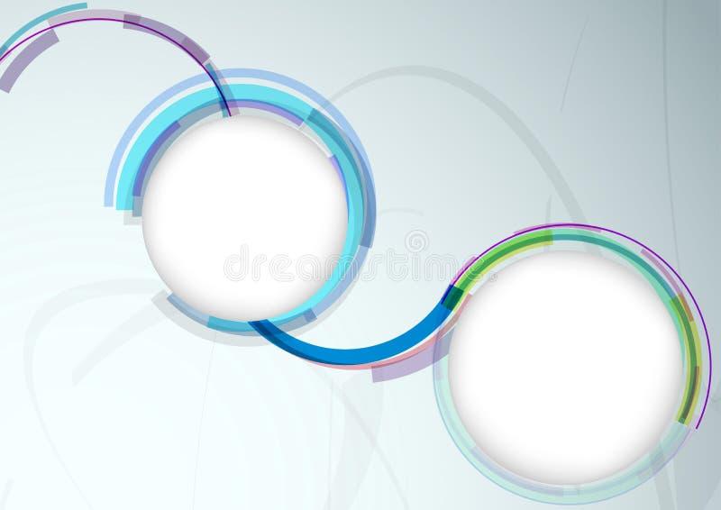 Molde colorido da bandeira da Web com elementos brilhantes ilustração stock