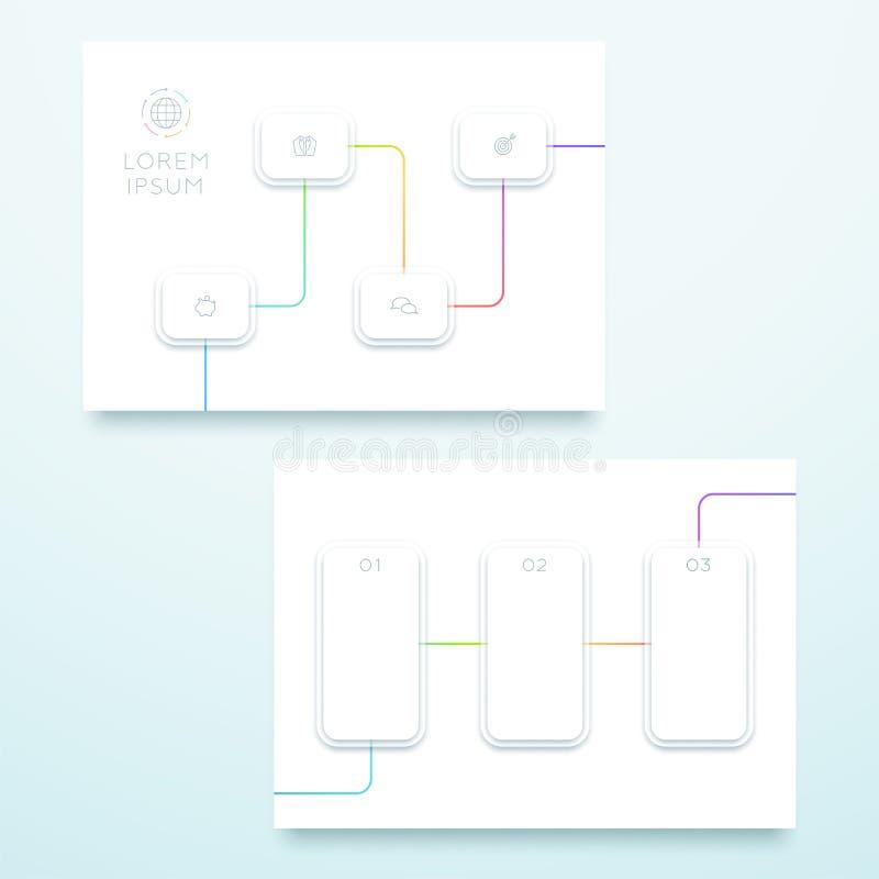 Molde colorido da página da paisagem do quadrado 3d do vetor ilustração do vetor