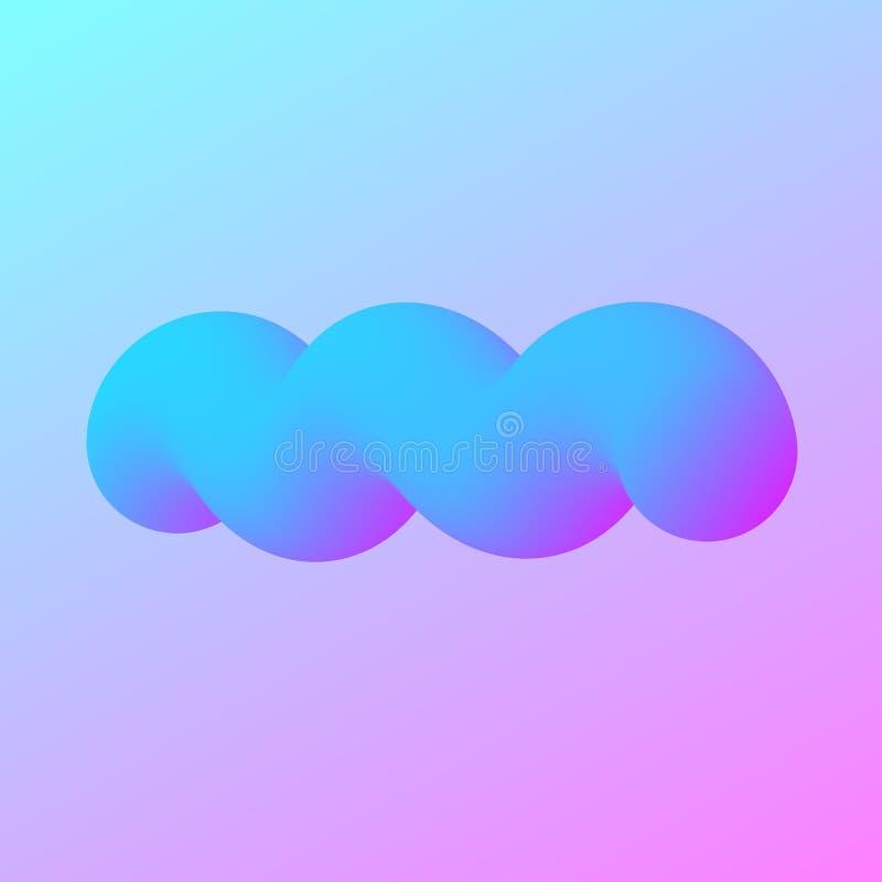 Molde colorido da Web do moderno moderno no contexto roxo projeto 3d fluido colorido abstrato O inclinação dá forma à composição  ilustração do vetor