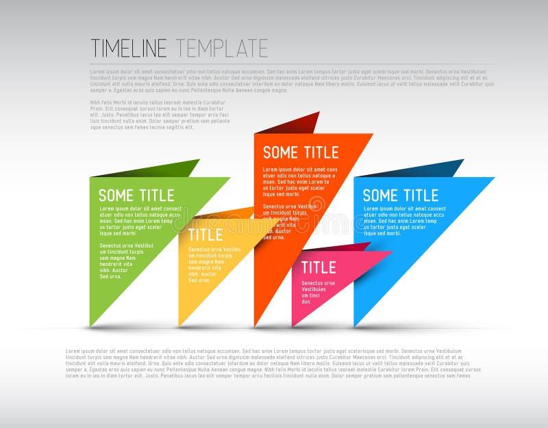 Molde colorido do relatório do espaço temporal de Infographic ilustração do vetor