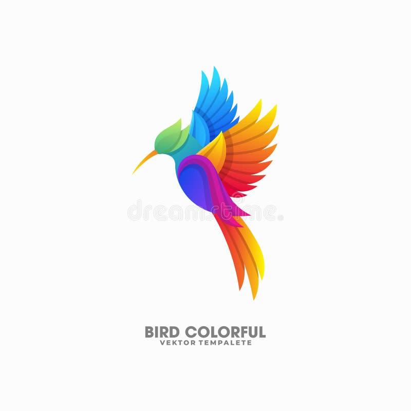Molde colorido do vetor da ilustração dos projetos do pássaro ilustração do vetor