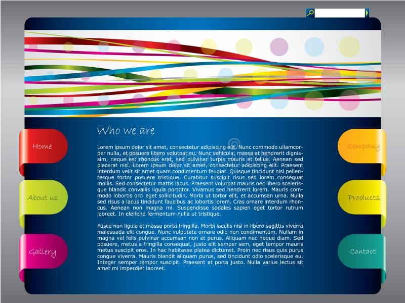 Molde colorido do Web com fitas ilustração stock