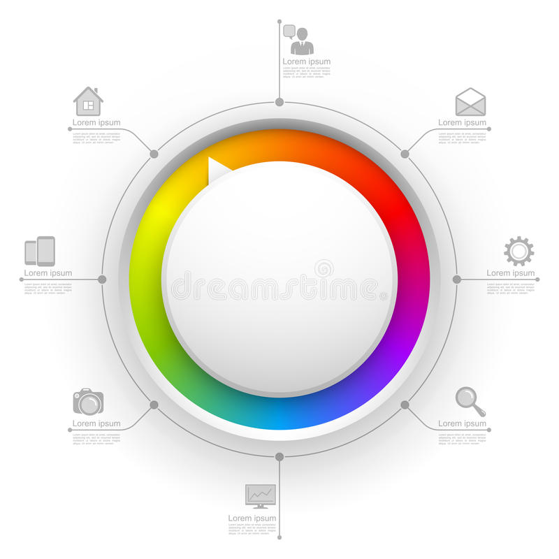 Molde colorido do Web site do círculo ilustração royalty free