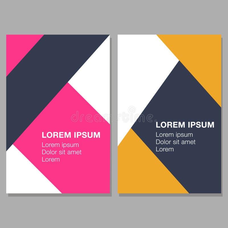 Molde colorido para folhetos, insetos, convites minimalist ilustração royalty free