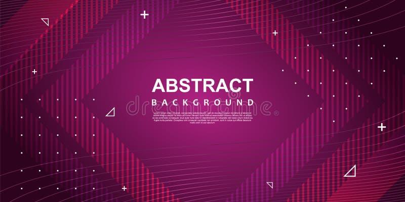 Molde colorido ultravioleta do fundo do sumário com efeito de néon na moda geométrico de memphis ilustração stock