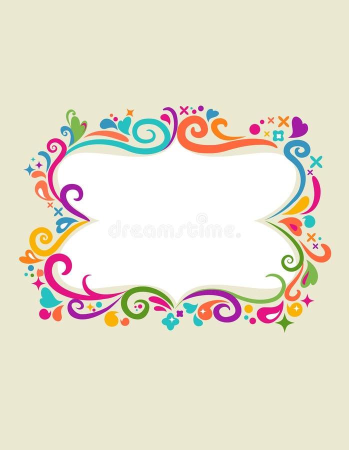 Molde com beira floral - 2 ilustração royalty free