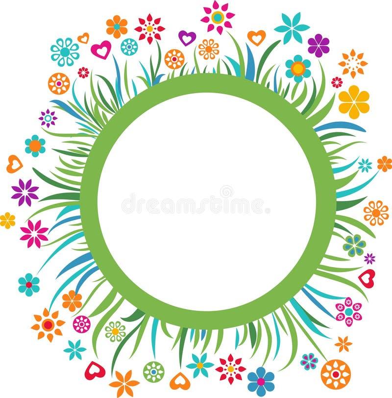 Molde com beira floral - 4 ilustração royalty free